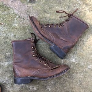 Vintage LAREDO Womens Brown Leather boots 8